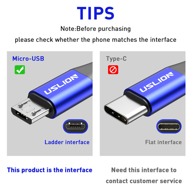 USLION 2m 3m kabel Micro USB 3A szybki kabel do ładowania danych dla Xiaomi Redmi 4X Samsung J7 Android telefon komórkowy Microusb ładowarka