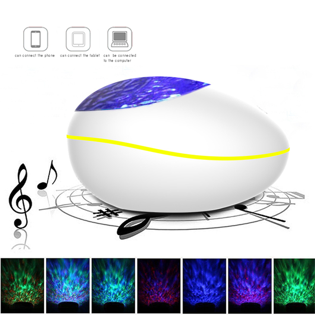 Colorful Starry Sky Projector Blueteeth USB Voice Control Music Player LED Night Light Romantic Projection Lamp Birthday Gift 6