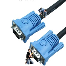 Brand new environmental protection PVC high-definition video cable VGA cable VGA3 + 6 male-to-male computer connection cable стоимость