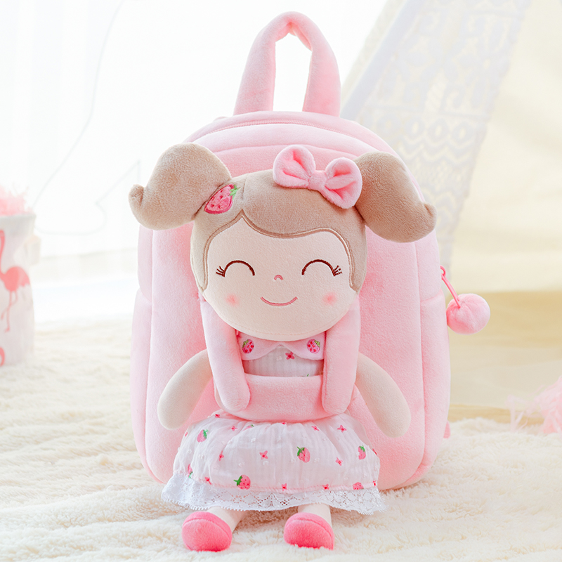 Gloveleya Plush Backpack Girls Backpack Toddler Backpack For Girl Spring Girl Strawberry Toy Cute Backpack