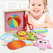Colorful paper-cut children's Handmade DIY Production Materials Kindergarten Educational toys Parent-child game pattern rich 100