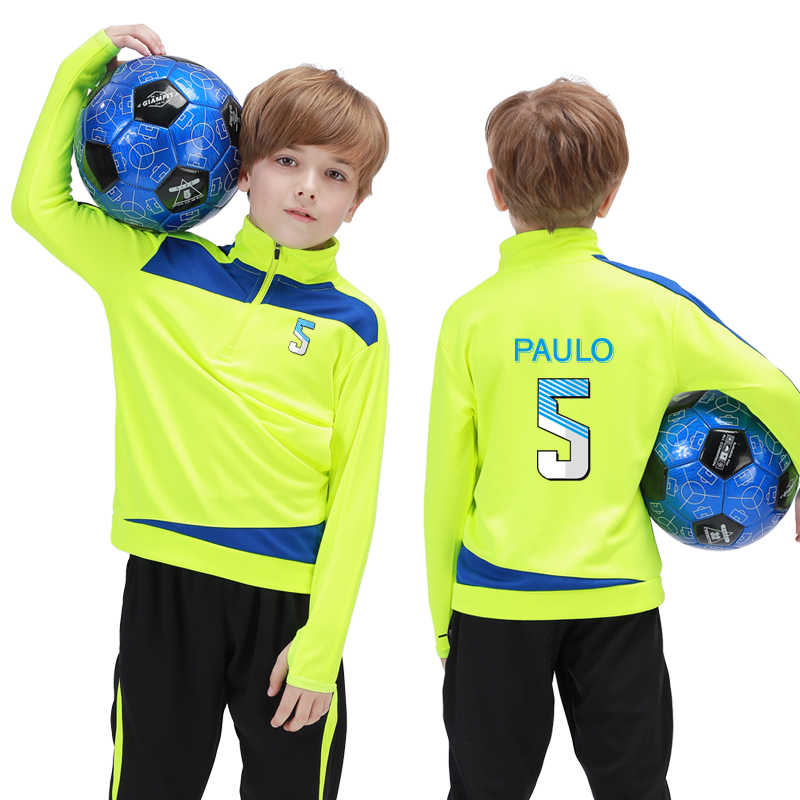 Kids Winter Soccer Sportswear Outdoor Tracksuit Long Sleeves Long Pants Jerseys Fitness Running Suits Sports Jogging Uniform