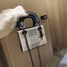 Brand women's handbag imitation diamond luxury designer reco