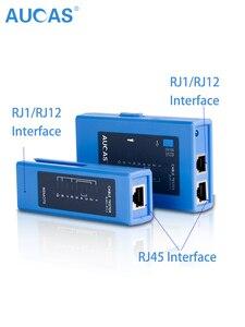 Image 5 - Aucas profissional cabo de rede testador rj45 lan ethernet cabo tester ferramenta lan ferramenta rede ferramentas de reparo
