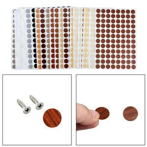 96PCS/Sheet PVC 15mm Self Adhesive Decorative Films Furniture Screw Cover Caps Stickers Wood Craft Desk Cabinet Ornament