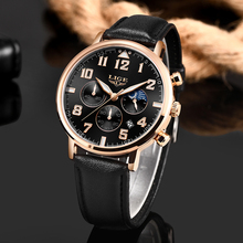 Montre Homme LIGE Fashion Men Watches Business Quartz watch All Steel Case Waterproof Chronograph Sport Date Leather
