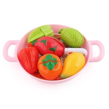 Girls Toy For Children Mini Kids Kitchen Toys Plastic Fruit Doll Food Miniature Pretend Play Food Pizza Vegetable Cake Toy Gift(China)