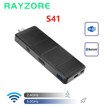 S41 biurowy Mini Pc TV Stick Intel Celeron N4120 Windows 10 Pro DDR4 4GB RAM 64GB ROM 2.4G 5G komputer Bluetooth