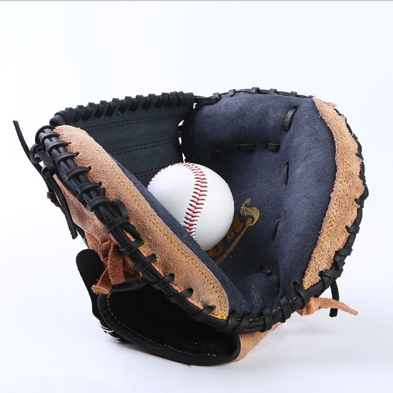 Batting Baseball Gloves Men Kids Leather Right Baseball Glove Softball Batting Youth Adult Handschoenen Outdoor Sports BJ50ST