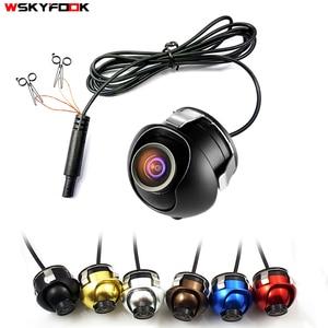 Image 1 - CCD HD gece görüş araba kamera ön/yan/sol/sağ/dikiz kamera 360 derece rotasyon evrensel araba ters geri görüş kamerası