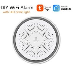 Alarm Tuya Alexa WiFi inteligentny dom DIY Alarm bezpieczeństwa z aplikacją Google Home Hub sterowanie głosem P2P monitorowanie kamery IP z oświetleniem LED