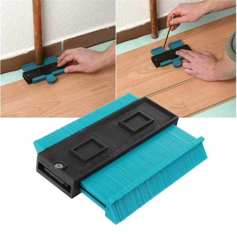5 Inch Contour Profile Gauge Tiling Laminate Tiles Edge Shaping Wood Measure Ruler TP-0184