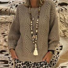 Женский трикотажный свитер с v образным вырезом и длинными рукавами