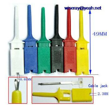DHL/EMS 600 шт 6 цветных захватов зонды SMT IC крюк тест зажимные кабели припой DIY-A8
