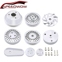 SPEEDWOW Universal Block Complete Pulley Set For Chevy Small Block Serpentine Front Drive System Aluminum Car Stying