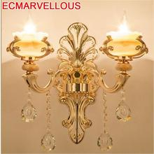 Lampe Aplique De Pared Modern Stair Indoor Lighting Sconce Crystal Wandlamp Applique Murale Luminaire Bedroom Light Wall Lamp
