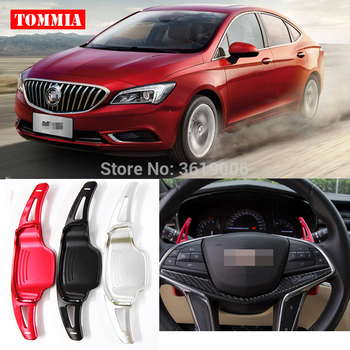 tommia For Buick Verano 2015-2017 2pcs Steering Wheel Aluminum Shift Paddle Shifter Extension Car-styling