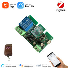 Tuya Zigbee Switch Module With RF433 Zigbee Inching Switch 5-32V DIY Switch Work with Alexa Smartthing Zigbee APP Remote Control