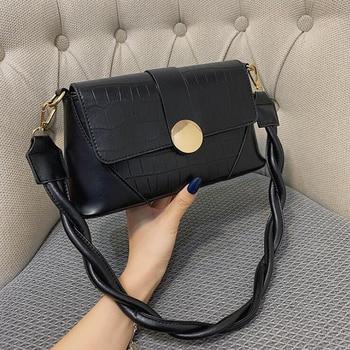 2020 New Stone Pattern Shoulder Bag Rope Strap PU Leather Crossbody Bags for Women Designer Handbags Luxury Women Bags