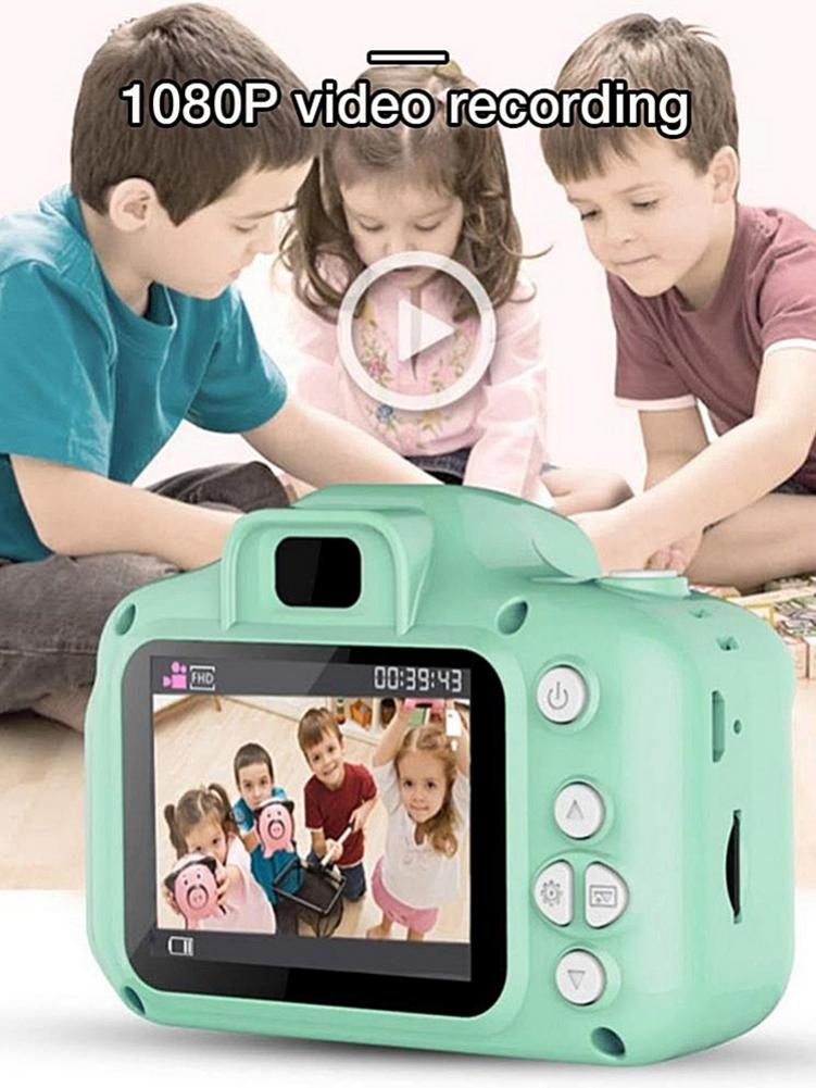 3 Colors Kids Digital HD 1080P Video Camera 2.0 Inch Color Display Toy For Children Baby Christmas And New Year Gift