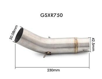 K7 GSXR 600 750 GSXR700 GSXR750 Motorcycle Exhaust Muffler Middle Link Pipe Tube Slip On For Suzuki GSX R600 R700 R750 K7 K8