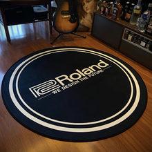 Roland 120cm Cool Round Area Rugs Living Room Printed Anti-slip Carpet Doormat Hallway Music Home Mats For Bar Floors Decoration
