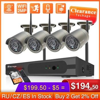 Techage H.265 8CH 2MP bezprzewodowy zestaw monitoringu NVR WiFi kamera IP na zewnątrz wodoodporna kamera bezpieczeństwa P2P wideo CCTV System nadzoru