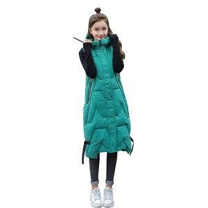 Image 5 - 2020 Autunno Inverno di Grandi Dimensioni di Moda Caldo Morbido Ed Elegante con Cappuccio Delle Donne di Stile Coreano Lungo Delle Signore Del Cotone Della Maglia Gilet