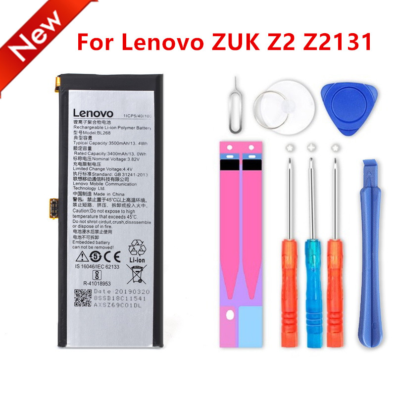 High Capacity BL268 Battery For Lenovo ZUK Z2 cZ2131 3500mAh+tools image