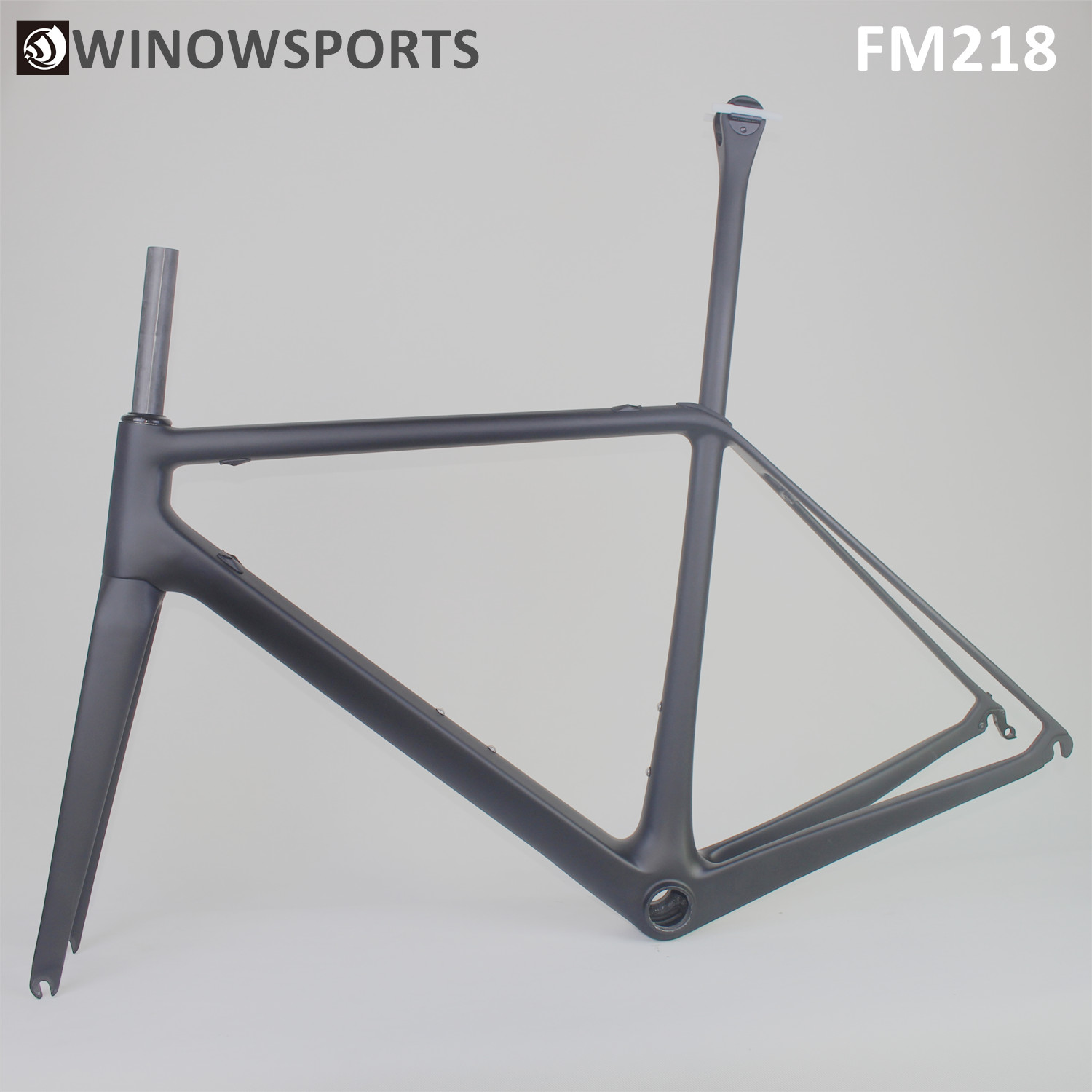 WINOWSPORTS 2020 New OEM Light Weight High Stifiness Carbon Road Bike Frame FM218 Road Rim Caliper Brake Gravel Bicycle Frameset
