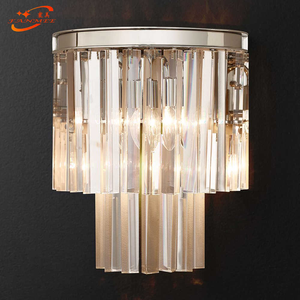 Modern Crystal Wall Lamp Modern Wall Sconce Bedroom Corridor Living Room Lights For Home Lighting