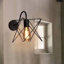 Creative Modern Style Wall Lamp Iron Art Star Wall Light Decorative Light Nordic Restaurant Cafe Aisle LED Wall Lamp Wholesale modern concise creative art fashion white black wall lamp cafe bar restaurant bedroom office aisle decoration lamp free shipping
