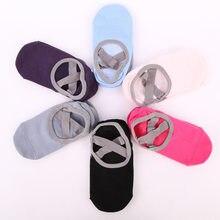 Chaussettes de Yoga en Silicone pour femmes et filles, avec lanières croisées, pour Fitness, Sport, danse, pantoufles avec poignées