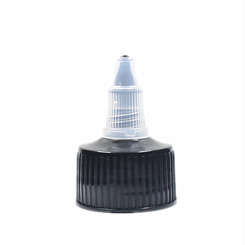 Plastic Dispensing Cap Black Ribbed Twist Top Cap X 10