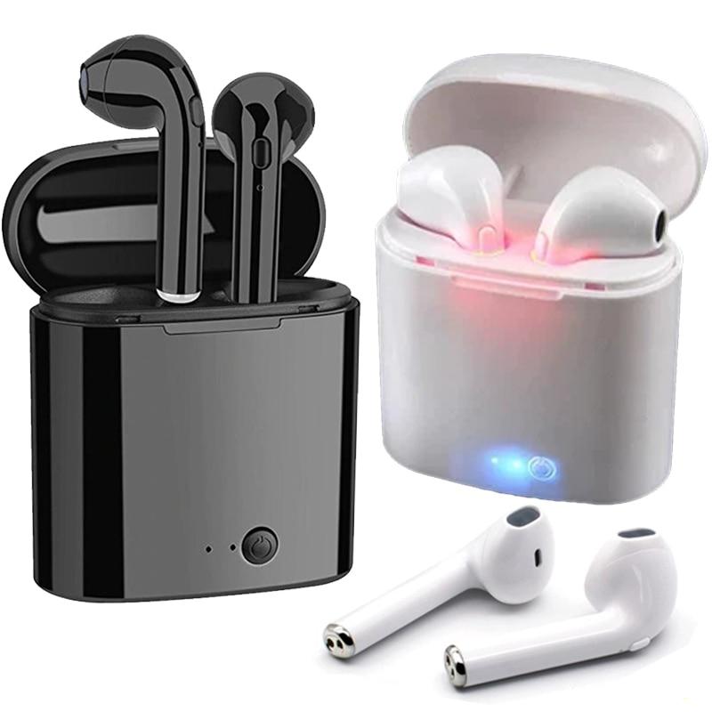 Bluetooth-наушники i7 i7s TWS, беспроводная гарнитура для спорта, зарядное устройство, для iPhone, Xiaomi