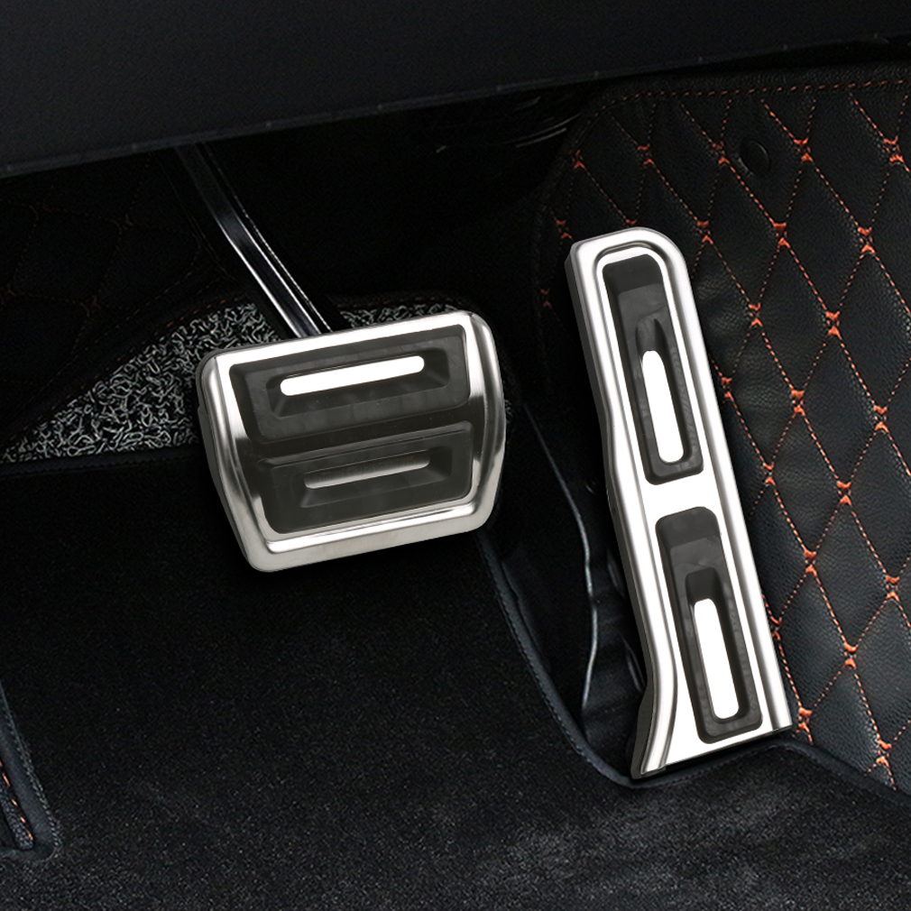 For <font><b>Audi</b></font> <font><b>Q3</b></font> TT older A3 stainless steel <font><b>pedal</b></font> cover set car rest modified kit foot rest non slipstyling gas pad image