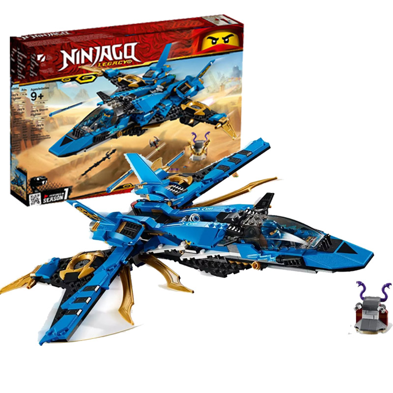 Ninja Toys Jay's Storm Fighter Compatible Legoines <font><b>Ninjagoing</b></font> <font><b>70668</b></font> Building Blcoks Figures Brick for Children Christmas Gift image