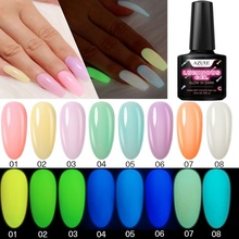 все цены на Azure Beauty Luminous Nail Gel Polish Soak Off Fluorescent In The Dark Led Gel Nail Lacquer Semi Permanent Chameleon Gel Varnish онлайн