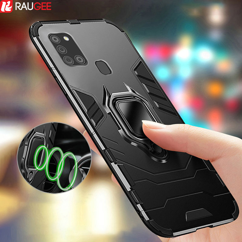 Armor Case For Samsung A21s Case Magnetic Ring Bumper TPU+PC Phone Case Back Cover For Samsung Galaxy A21s A 21S A21 S Case
