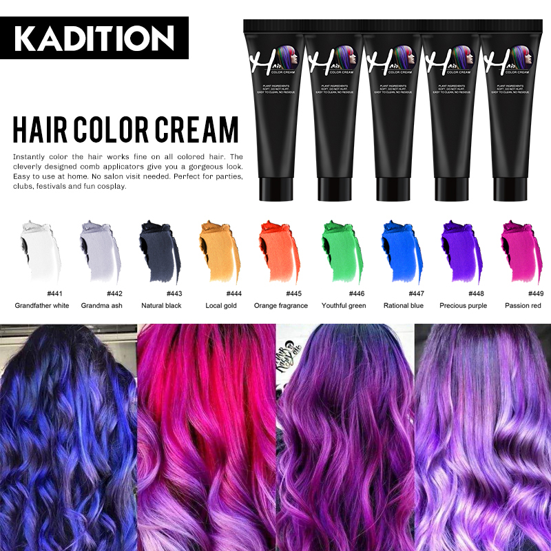 New 2020 Hair Dye Permanent Constant Not Hurt Hair Coloring Root Cover Beauty No Ammonia Type Hair Dye Cream Fashion Popular