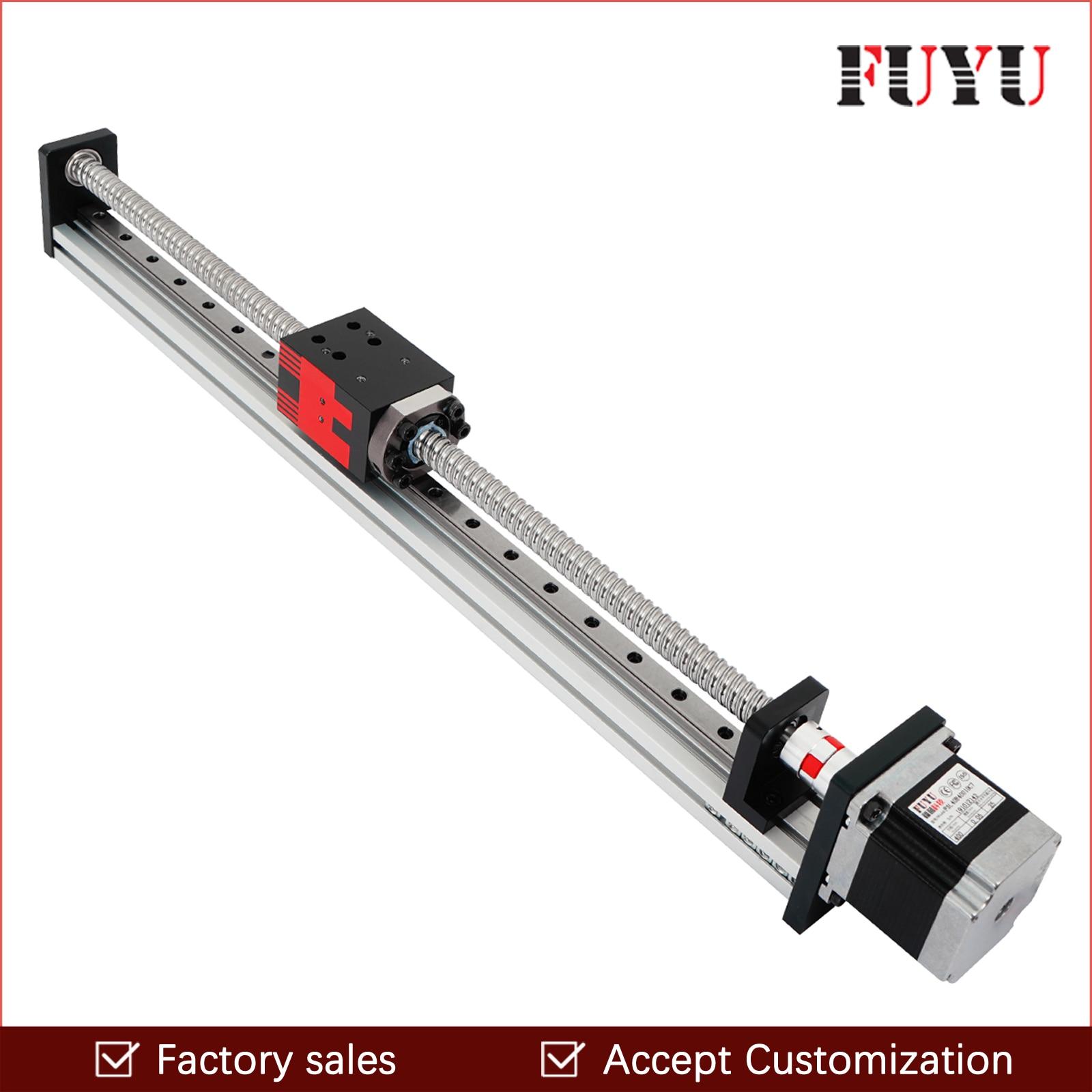 High Speed Belt Linear Guide 400mm Belt Drive CNC Slide Rail Linear Motion Actuator for CNC Machining Laser Machining DIY 3D Printing CNC Milling Machines