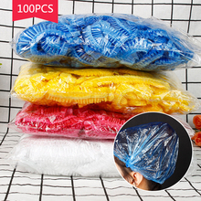 100PCS Disposable Shower Caps Thickened Spa Hat Hair Salon Hotel One-Off Bathing