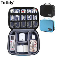 Accessoires de voyage antichoc sac numérique grande batterie externe Gadgets USB pochette chargeur câble écouteur électronique sac de rangement