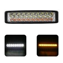 LEEPEE 18W DC 12-24V Brightness Yellow White Dual-Color Car Spotlight For Off-Road Car Sedan SUV Truck 18 LEDs Work Light