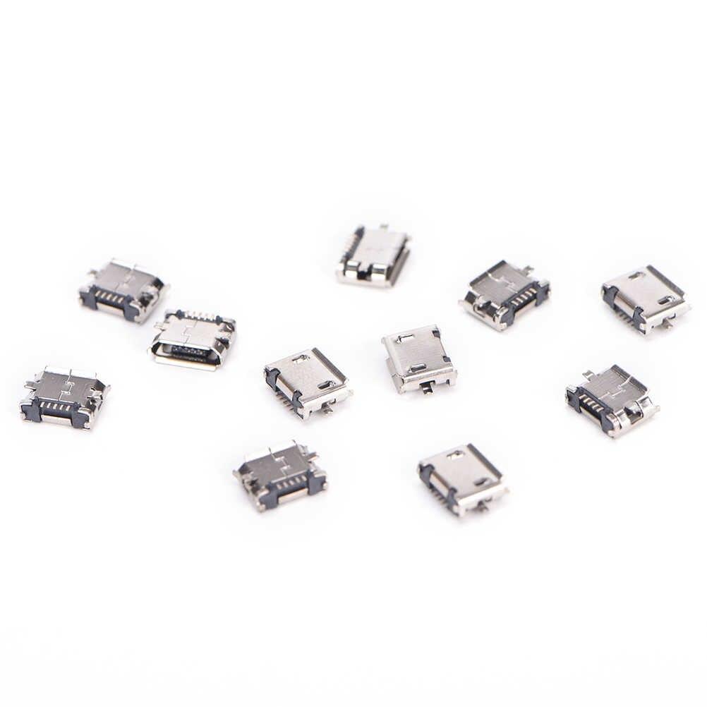Jetting Baru Micro USB 5pin B Type Female Connector Untuk Ponsel Jack Micro USB Konektor 5 Pin Pengisian Jual 10Pcs