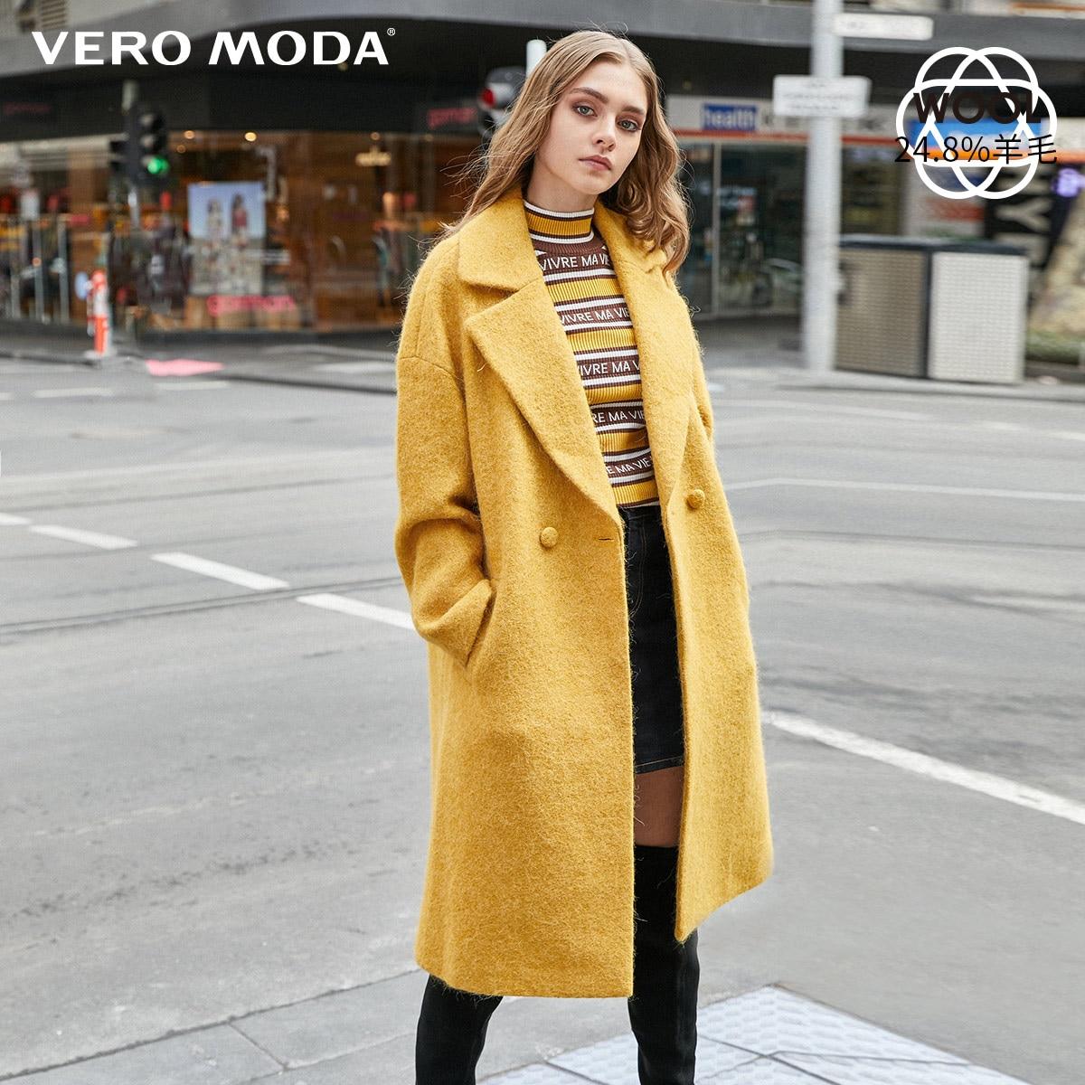 Vero Moda New Sheep Wool Alpaca Pure Long Overcoat | 319427507