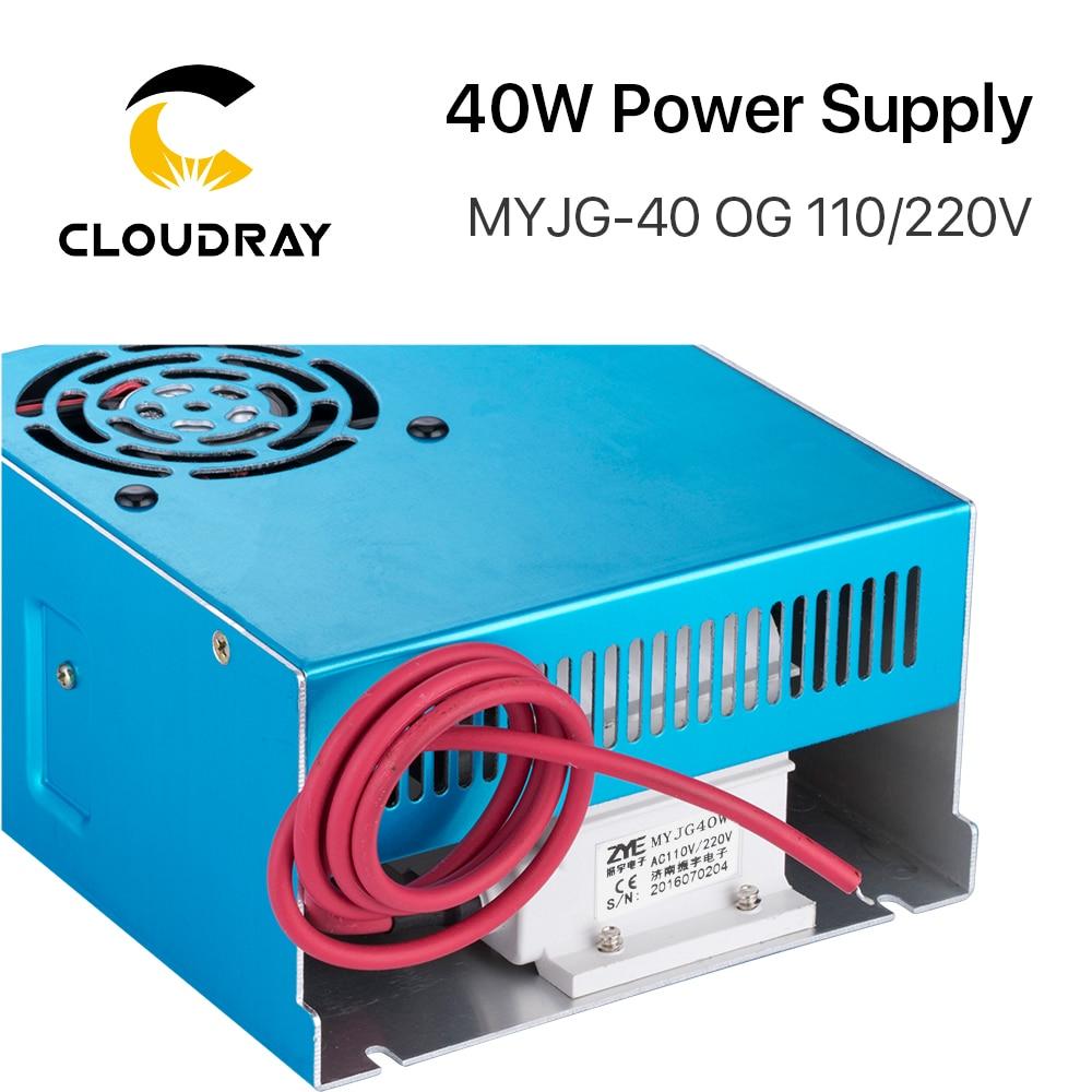 Zasilacz laserowy Cloudray 40 W CO2 MYJG 40WT 110 V / 220 V do - Części maszyn do obróbki drewna - Zdjęcie 2