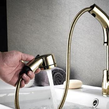 Hot And Cold Water Crane Deck Mount Faucets Bathroom Kitchen Basin Faucet Single Handle Pull Out Spray Sink Tap Hot Cold Mixer free shipping golden white basin mixer faucet single handle bathroom pull out vanity sink faucet hot and cold tap