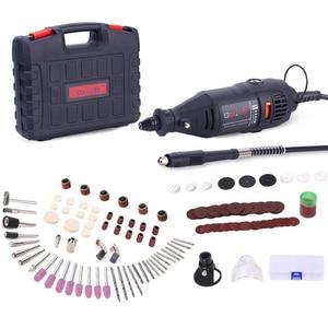 Image 1 - Goxawee mini broca elétrica, máquina de perfuração, com ferramentas elétricas, acessórios