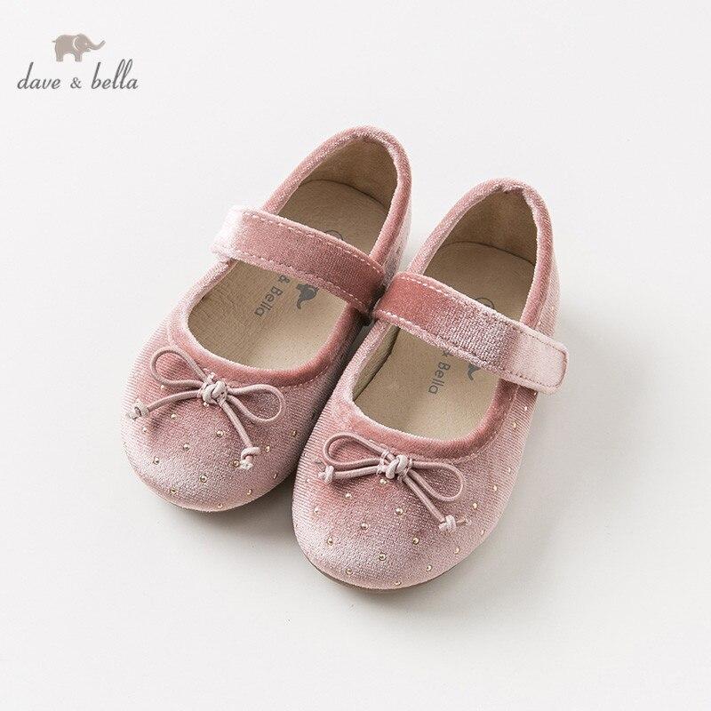 DB11606 Dave Bella Spring Autumn Baby Girl Korean Velvet  Shoes Children Brand Shoes